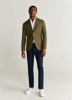 MANGO MAN - Slim fit 100% linen blazer sand - 36 - Men