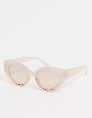 Dusk To Dawn oversized cat eye sunglasses in beige
