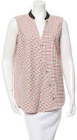 Band Of Outsiders Windowpane Check Sleeveless Top w/ Tags