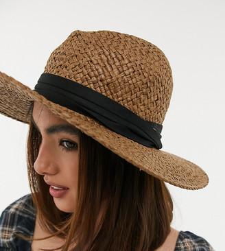 South Beach fedora hat in straw