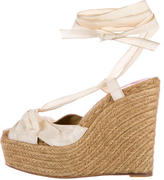 Christian Louboutin Wraparound Platform Wedge Sandals