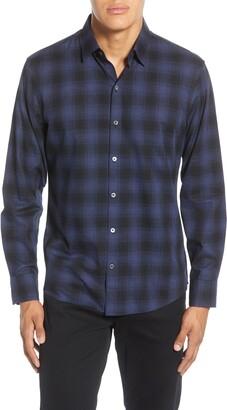 Zachary Prell Frederick Regular Fit Plaid Button-Up Sport Shirt