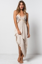 Tularosa Huntley Lace Maxi Dress in Black/Cream