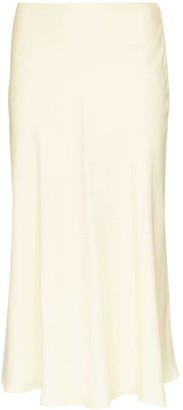 Carcel Silk Midi Skirt