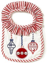 Mud Pie Baby Girls Christmas Ornament Bib
