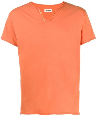 Zadig & Voltaire Monastir button-embellished cotton T-shirt