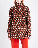 Dries Van Noten Conti high neck cotton-poplin shirt