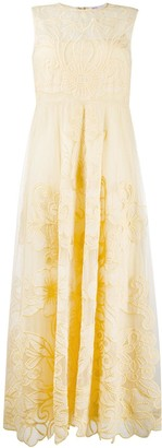 RED Valentino embroidered long dress