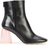 Ellery clear chunky heel boots