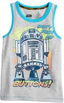 """Star Wars A Collection For Kohls Boys 4-7x Star Wars a Collection for Kohl's """"Don't Push My Buttons"""" R2D2 Tank"""
