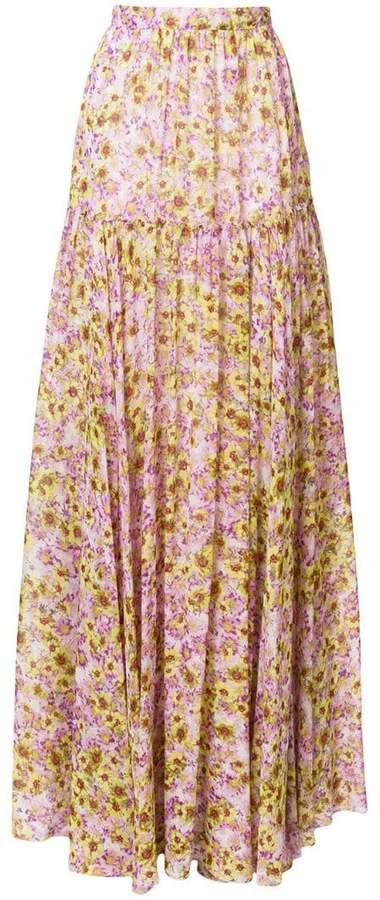 Giambattista Valli floral-printed maxi skirt