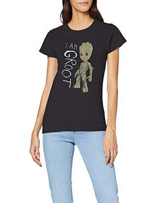 Marvel Women's Guardians of The Galaxy Vol.2 I Am Groot Scribbles T-Shirt,10 (Size:M)