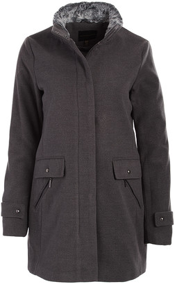 Weatherproof Women's Non-Denim Casual Jackets GREY - Gray Funnel Collar Coat - Women