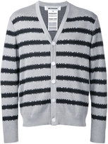 Anrealage striped cardigan - men - Silk/Cotton/Rayon - 48
