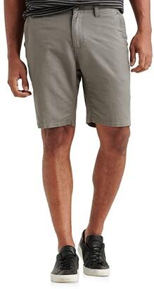 Lucky Brand Linen Flat Front Shorts (Charcoal Grey) Men's Shorts