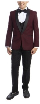 Perry Ellis Toddler Boy's 5-Piece Slim Fit Shawl Tuxedo Set