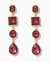 Charming charlie Royal Stone Drop Earrings