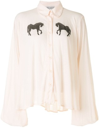 Wildfox Couture Horse-Print Blouse