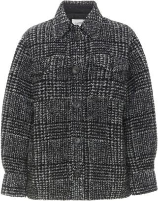 Etoile Isabel Marant Gastoni Houndstooth Wool-Blend Jacket