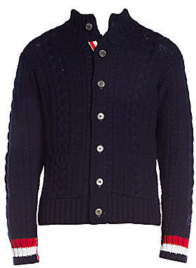 Thom Browne Men's Merino Wool Cabled Cardigan