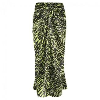 Ganni Spring Summer 2019 Green Silk Skirt for Women