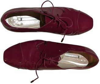 Nicholas Kirkwood Red Patent leather Lace ups