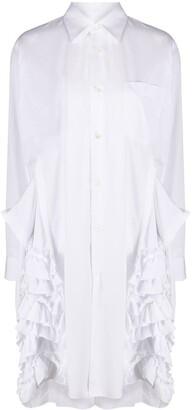 Comme des Garçons Comme des Garçons Long-Sleeved Ruffled Detail Shirt