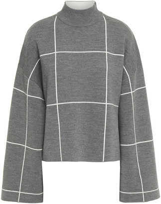 Ninety Percent Checked Merino Wool Turtleneck Sweater