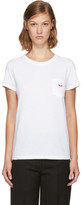 MAISON KITSUNÉ White Tricolor Fox Patch Pocket T-shirt
