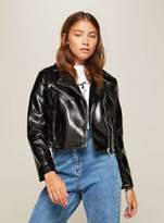 Miss Selfridge Petite vinyl biker jacket