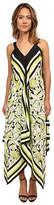 Christin Michaels Scarf Print Maxi Dress