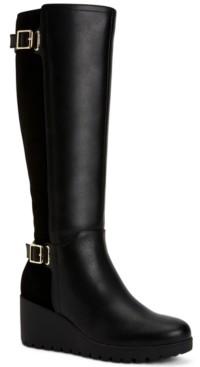 Giani Bernini Sannaa Wedge Boots, Created for Macy's Women's Shoes