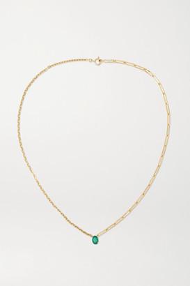 Yvonne Léon 18-karat Gold Emerald Necklace - one size