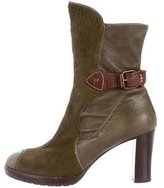 Henry Beguelin Ponyhair Round-Toe Boots