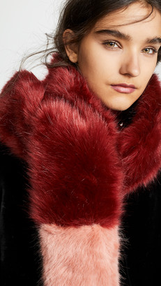 Heurueh Long Skinny Faux Fur Scarf