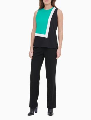 Calvin Klein Colorblock Sleeveless Keyhole Back Top