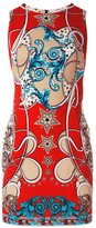 Versace baroque fitted dress