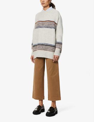 Sessun Seldovia striped oversized stretch-knitted jumper