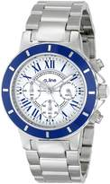 A Line a_line Women's 80015-22-BU Marina Chronograph Textured Dial Stainless Steel Watch