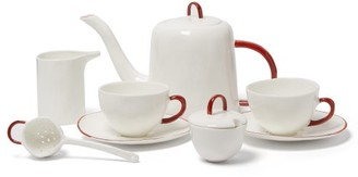 Feldspar - Fine China Tea Set - White