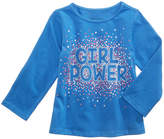 First Impressions Girl Power Long-Sleeve Cotton T-Shirt, Baby Girls, Created for Macy's