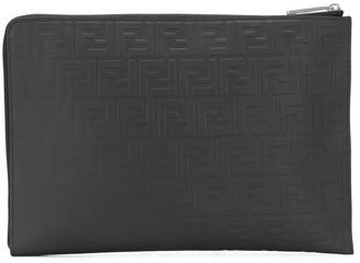 Fendi shaded-effect FF pouch