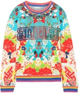 Camilla Ginza Gang Crystal-embellished Printed French Cotton-terry Sweatshirt