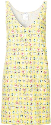 Chanel Pre Owned Hearts Print Sleeveless Dress