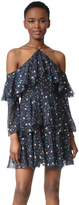 Cynthia Rowley Leopard Print Cold Shoulder Dress