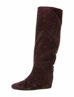 Lanvin Suede Boots Purple