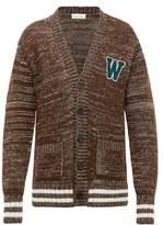 Wales Bonner - Logo Applique Oversized Cardigan - Mens - Brown