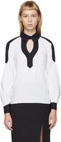 Peter Pilotto White and Navy Poplin Penta Shirt