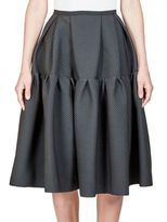 Erdem Leslie Tiered Quilted Jacquard Skirt