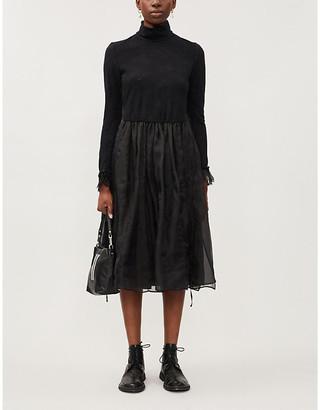 RENLI SU Turtleneck relaxed-fit wool-blend midi dress